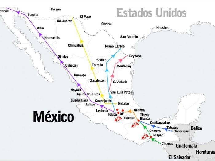 inmigrantes tren la bestia ruta