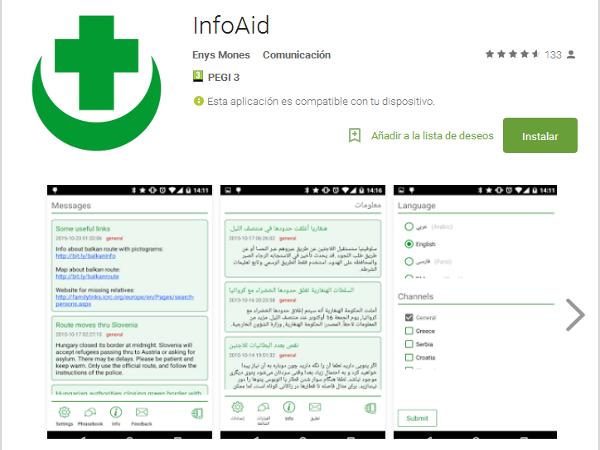 Aplicación para Android: InfoAid
